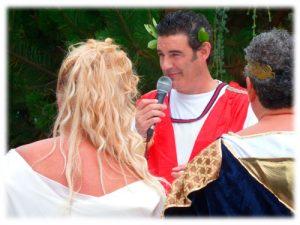 boda temática romanos
